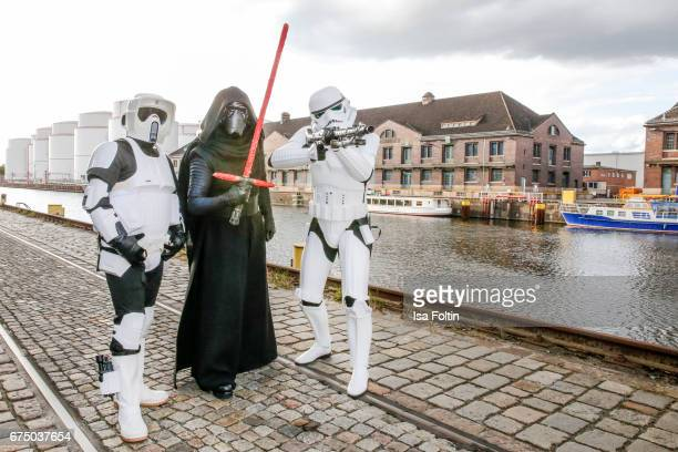 Star wars figures during the German Computer Games Award 2017 at WECC on April 26 2017 in Berlin Germany