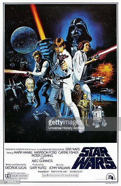 Star Wars is a 1977 American epic space opera film written and directed by George Lucas The film stars Mark Hamill Harrison Ford Carrie Fisher Peter...