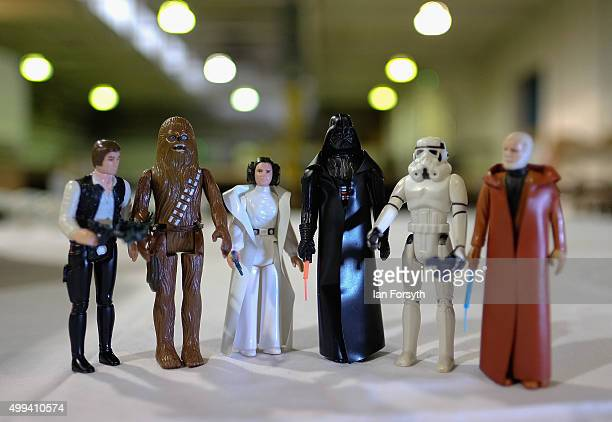 Star Wars model figures form part of a huge collection of a Star Wars memorabilia and collectables displayed ahead of an auction at Vectis Auction...