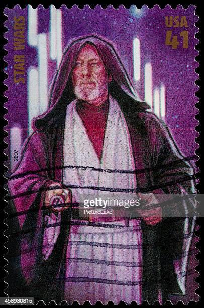 usa star wars obi-wan kenobi postage stamp - jedi stock pictures, royalty-free photos & images