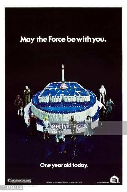 Star Wars, poster, , clockwise from top right: Stormtrooper, Death Squad Commander, Darth Vader, Princess Leia, C-3PO, R2-D2, Luke Skywalker, Obi-Wan...