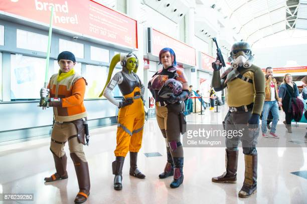 Star Wars Rebel cosplayers seen during the Birmingham MCM Comic Con held at NEC Arena on November 19 2017 in Birmingham England