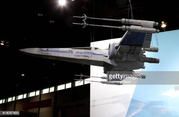 A 'Star Wars' space ship model is on display at the 110th Annual Chicago Auto Show at McCormick Place in Chicago Illinois on February 8 2018
