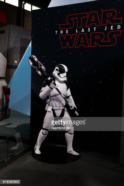 A 'Star Wars' storm trooper model is on display at the 110th Annual Chicago Auto Show at McCormick Place in Chicago Illinois on February 8 2018