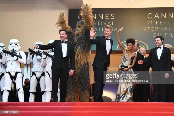 Star Wars stormtroopers British producer Simon Emanuel Chewbacca Finnish actor Joonas Suotamo British actress Thandie Newton US actor Woody Harrelson...