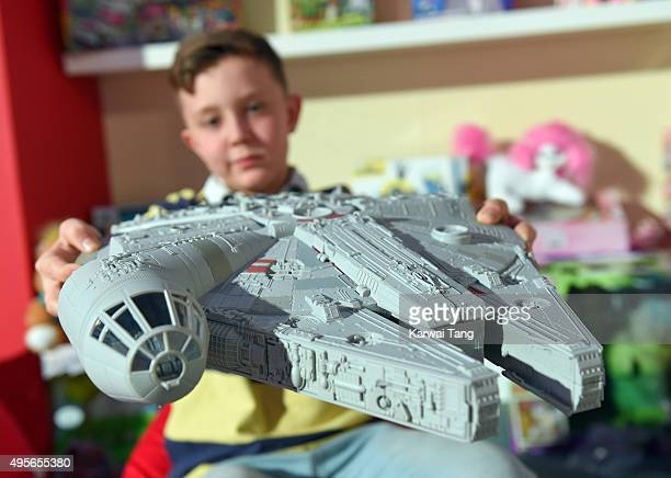 Star Wars The Force Awakens Millennium Falcon is one of the top 12 Dream Toys 2015 revealed at St Marys Church on November 4 2015 in London England