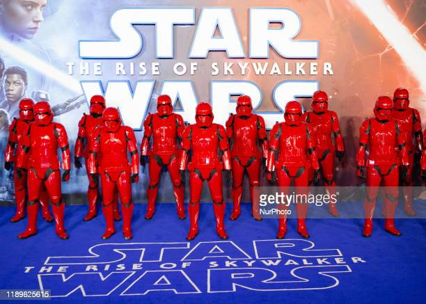 ''Star Wars The Rise of Skywalker'' European Premiere at Cineworld Leicester Square on December 18 2019 in London