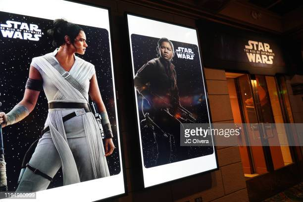 Star Wars The Rise Of Skywalker posters at the Star Wars Marathon hosted by Nerdist on December 19 2019 in Hollywood California