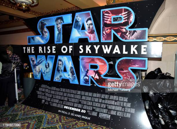 A Star Wars The Rise Of Skywalker sign at the Star Ward Marathon hosted by Nerdest at the El Capitan Theater on December 19 2019 in Hollywood...