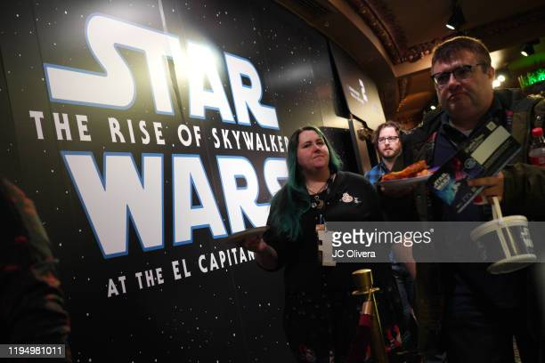A Star Wars The Rise Of Skywalker sign at the Star Wars Marathon hosted by Nerdist on December 19 2019 in Hollywood California