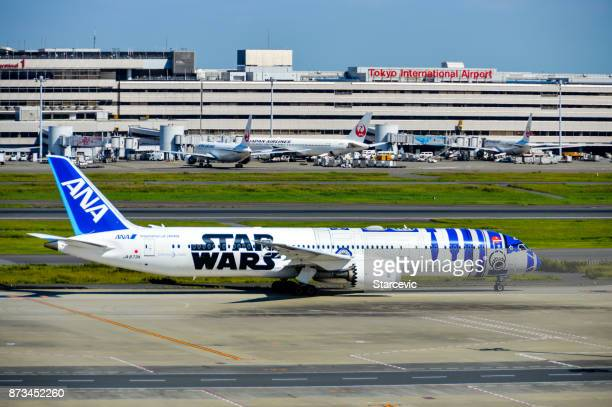 ANA Star Wars themed airplane at Tokyo Haneda Airport