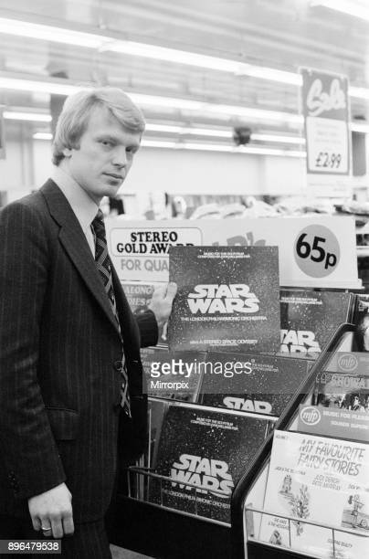 Star Wars Vinyl Record on Sale for 65 pence at Woolworth store in Oxford Street London 31st December 1977 Cut by Damon Records Pictured Brian Futcher...