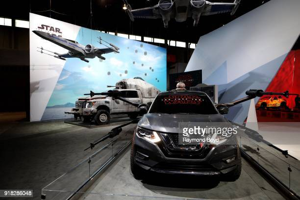 A 'Star Wars'themed Nissan Rogue is on display at the 110th Annual Chicago Auto Show at McCormick Place in Chicago Illinois on February 8 2018