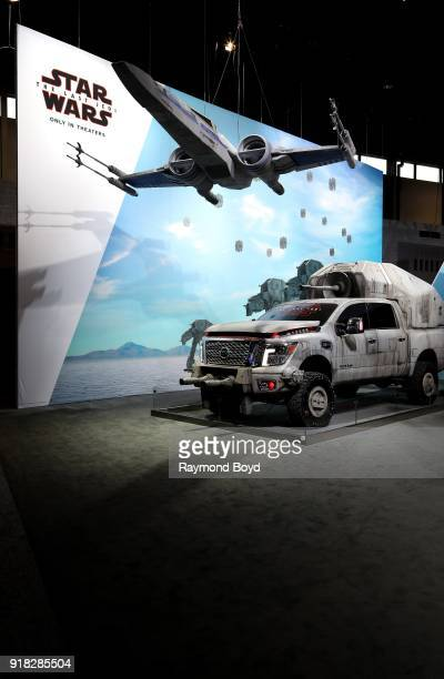 A 'Star Wars'themed Nissan Titan is on display at the 110th Annual Chicago Auto Show at McCormick Place in Chicago Illinois on February 8 2018