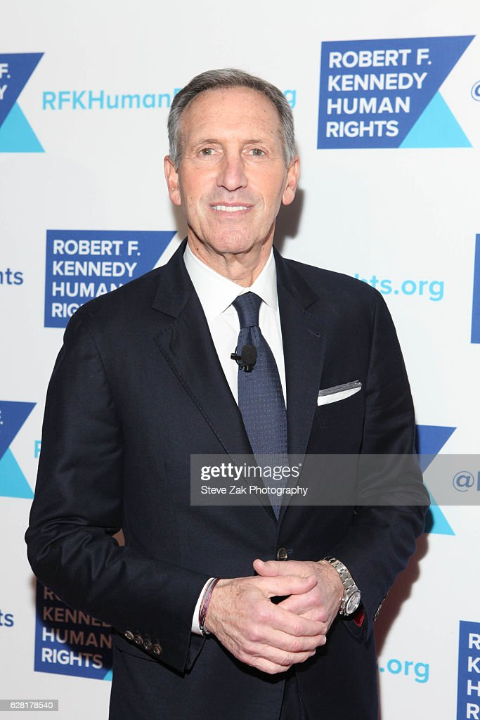 Starbuck President Howard Schultz attends 2016 Robert F. Kennedy Human Rights' Ripple of Hope Awards at New York Hilton Midtown on December 6, 2016 in New York City.