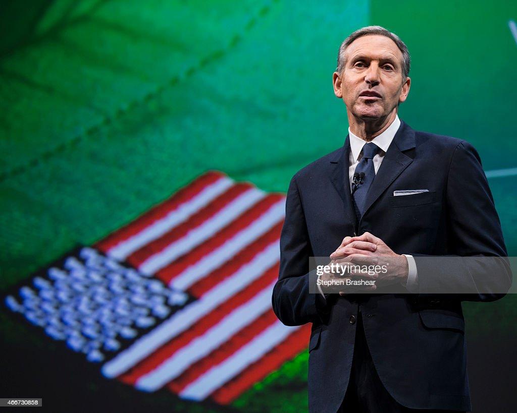 Starbucks Holds Annual Shareholders Meeting : News Photo