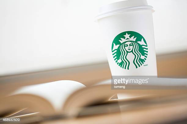 Starbucks Coffee and Open Book