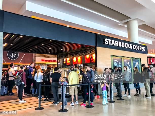 Starbucks coffee at Cancun International Airport, Mexico