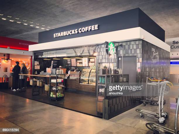 Starbucks coffee at Roissy Charles de Gaulle Airport, Paris, France