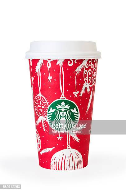 Starbucks coffee cup with autumn decorative motives