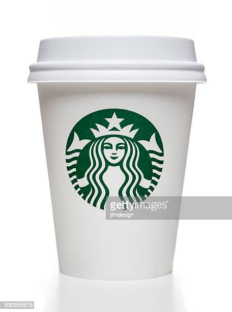 Starbucks coffee cup with cap