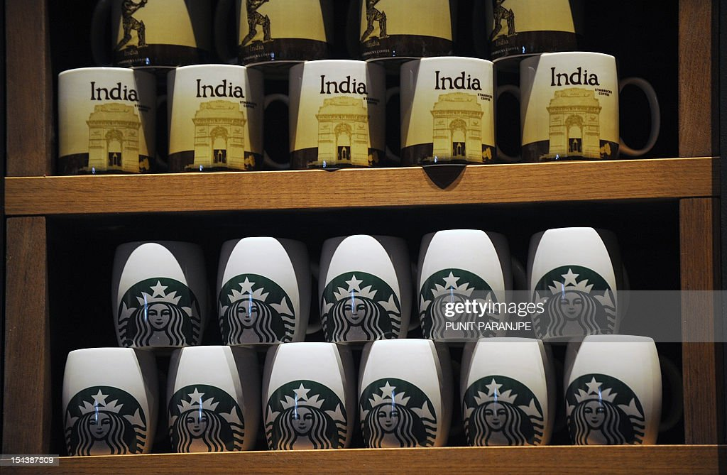Starbucks Coffee Mugs Are On Display At The Country S First News Photo Getty Images