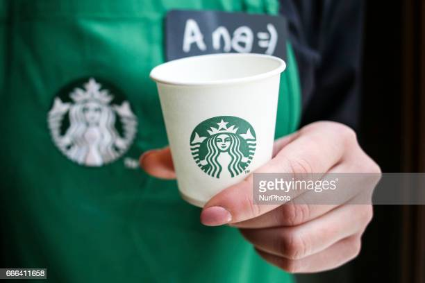 StarBucks Coffee opens a new store on Florianska street in Krakow Poland on 8 April 2017