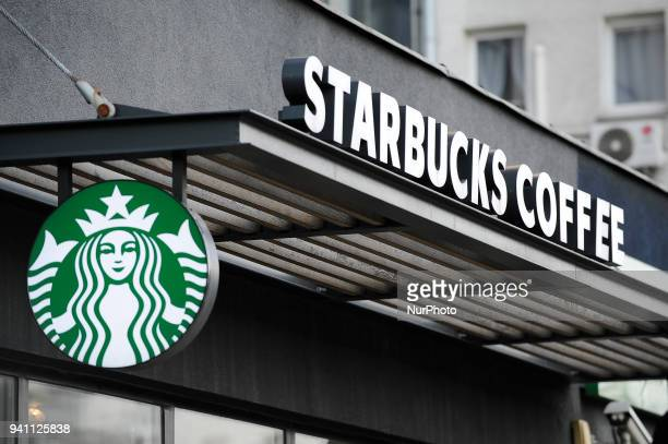 A Starbucks coffee shop is seen Warsaw Poland on April 2 2018