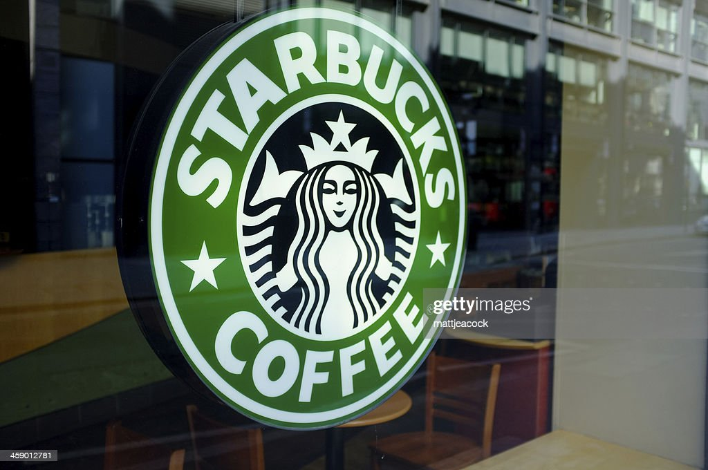 Starbucks Coffee Sign Stock Photo Getty Images
