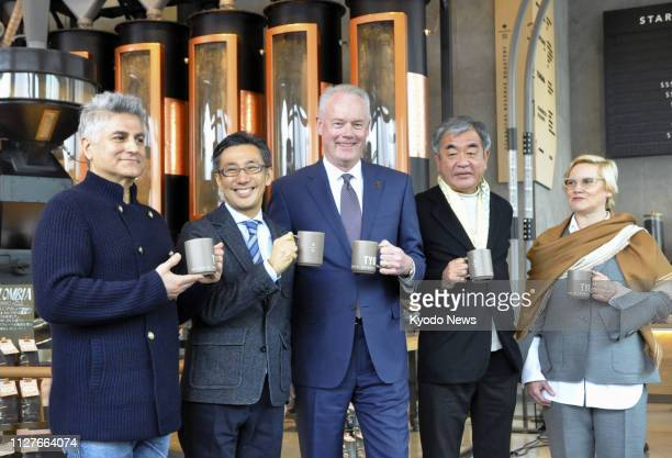 Starbucks Corp CEO Kevin Johnson poses at Starbucks Reserve Roastery a highend outlet of the coffee chain in Tokyo's Meguro Ward on Feb 27 a day...