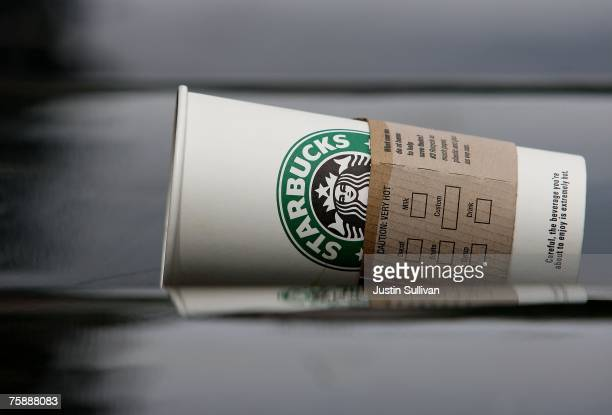 Starbucks cup is seen discarded on a newspaper rack July 31 2007 in San Francisco California With dairy prices reaching record highs Starbucks...