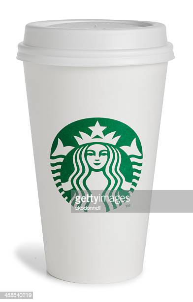 starbucks (スターバックス)の使い捨てコーヒーカップ - スターバックス ストックフォトと画像