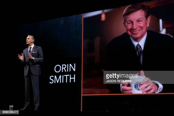 Starbucks Executive Chairman Howard Schultz talks about the recent passing of former Starbucks President and Chief Executive Officer Orin Smith at...