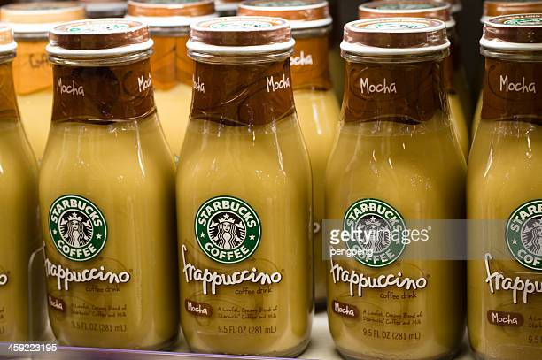 starbucks frappuccino coffee - mocha stock photos and pictures