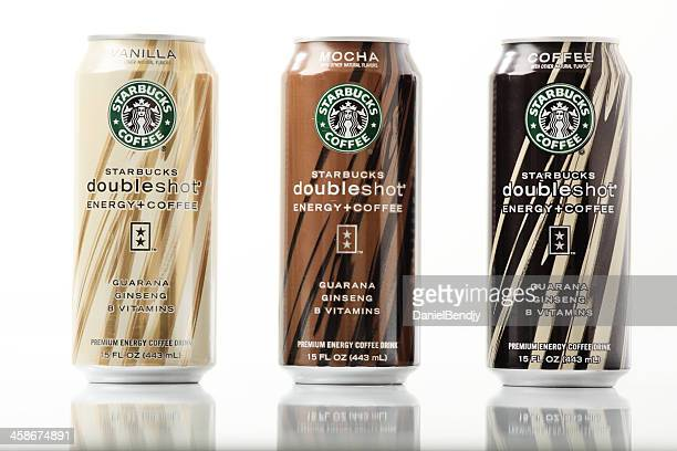 starbucks premium energy coffee drink - coffee drink stock pictures, royalty-free photos & images