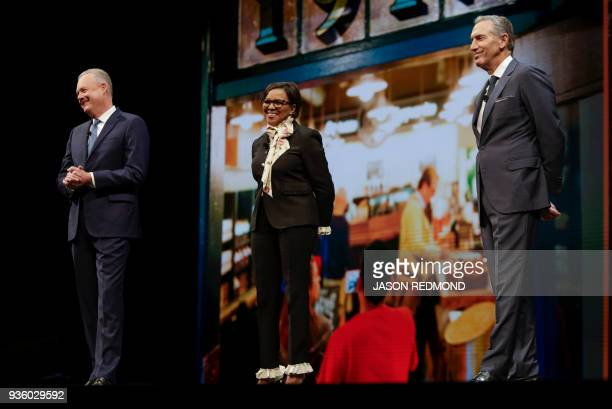 Starbucks President and Chief Executive Officer Kevin Johnson Americas Group President and Chief Operating Officer Roz Brewer and Starbucks Executive...