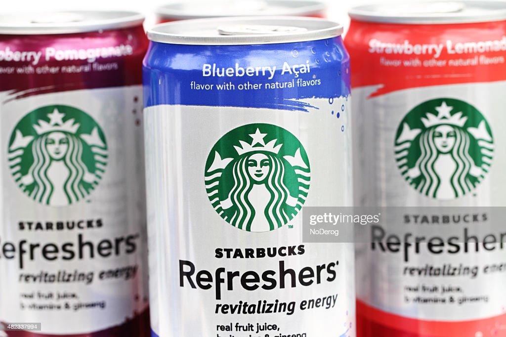 Starbucks Refreshers Revitalizing Energy Drinks Stock Photo