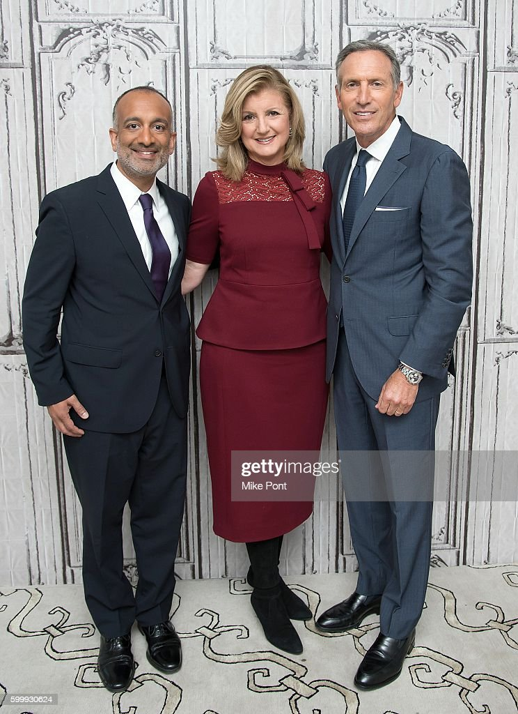 "The BUILD Series Presents Starbucks CEO Howard Schultz, SVP Rajiv Chandrasekaran and Arianna Huffington Discussing The New Starbucks Original Content Series ""Upstanders"""