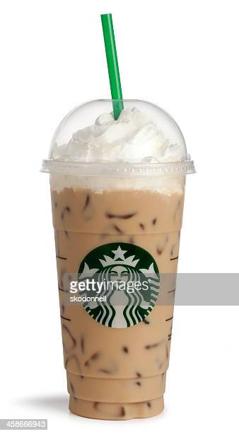 Starbucks Venti Caramel Frappucino on White