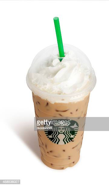 Starbucks Venti Vanilla Frappucino on White
