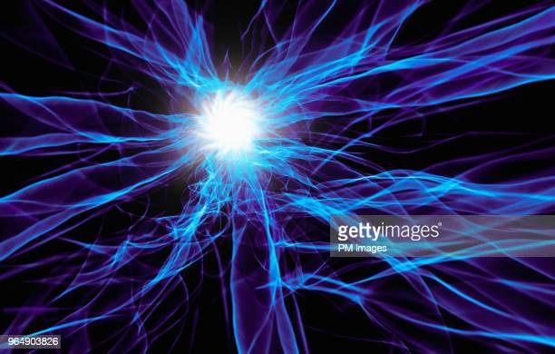starburst in web of light - electricity stock pictures, royalty-free photos & images