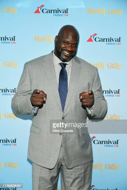 Star/Carnival's Chief Fun Officer Shaquille O'Neal attends Carnival Cruise Line's NYC Cruise Into Summer Event To Celebrate The Arrival Of Mardi Gras...