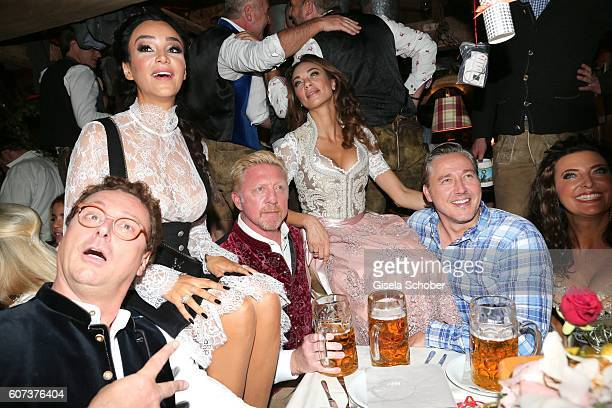 Starclub founder Bernhard Fritsch Verona Pooth Boris Becker and his wife Lilly Becker Franjo Pooth during the opening of the oktoberfest 2016 at the...