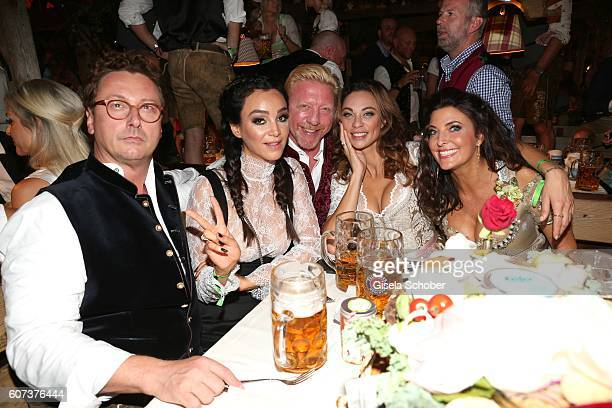 Starclub founder Bernhard Fritsch, Verona Pooth, Boris Becker and his wife Lilly Becker, Franjo Pooth and Mrs. Fritsch during the opening of the...