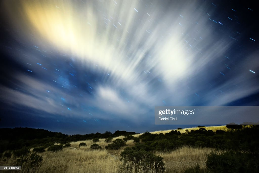 Starfall, Monte Bello Open Space Preserve : Stock Photo