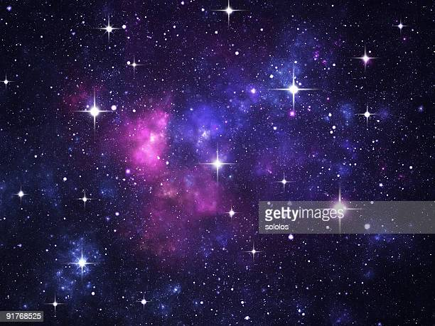 starfield with flares - galaxy wallpaper stock pictures, royalty-free photos & images