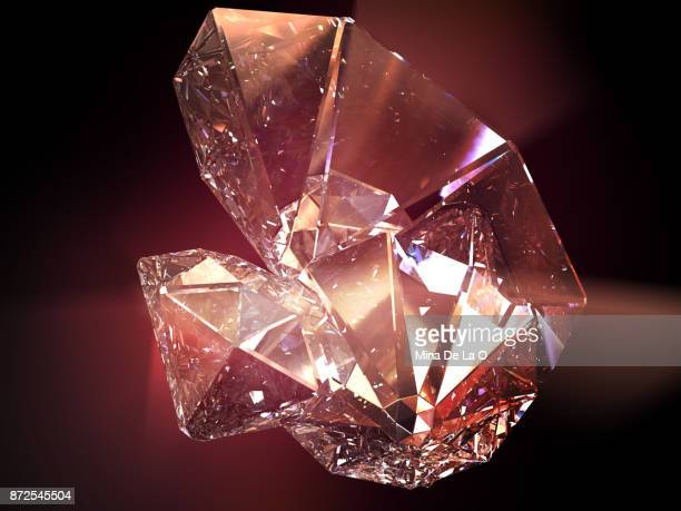 starg_red - diamond gemstone stock pictures, royalty-free photos & images