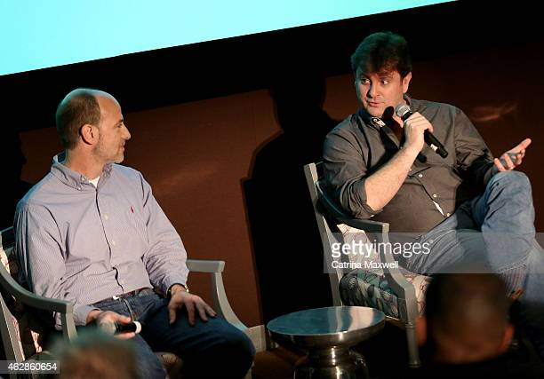 Stargate Studios president Darren Frankel and visual effects supervisor Kevin Blank speak on the Visual Effects for Television pannel during aTVfest...