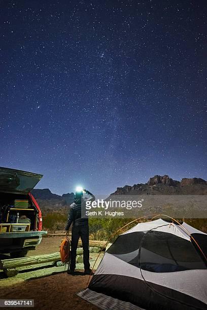 stargazer, big bend national park, texas - big bend national park stock pictures, royalty-free photos & images