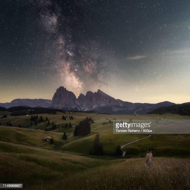 stargazer - alto adige italy stock pictures, royalty-free photos & images